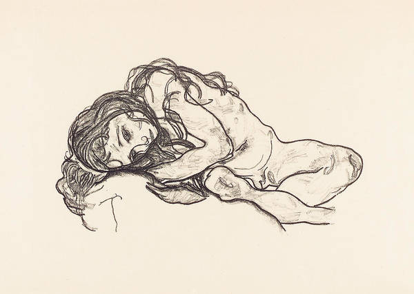 Sensual Drawing - Girl by Egon Schiele