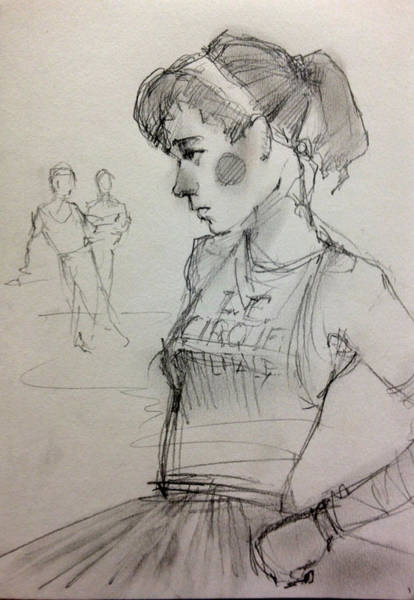 Wall Art - Drawing - Girl by H James Hoff