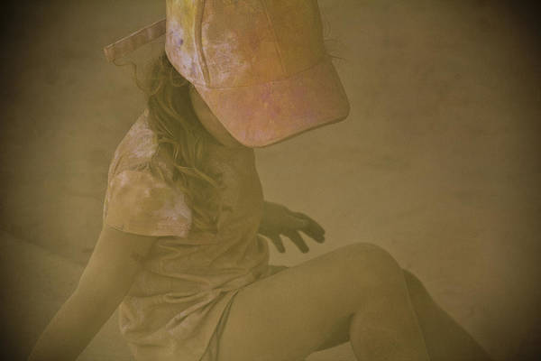 Photograph - Girl In A Dust Storm by Debbie Cundy