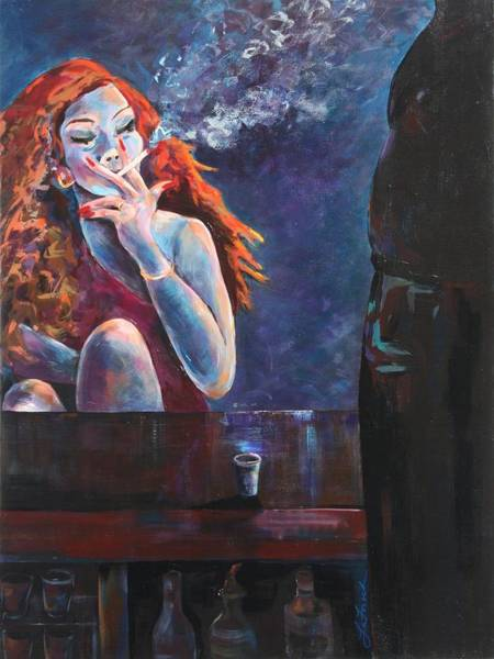 Interaction Painting - Girl In A Glass #11 by Susi LaForsch