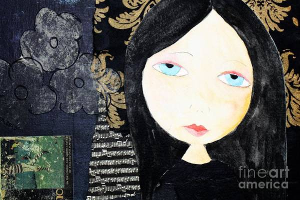 Painting - Girl In Black by Melinda Etzold