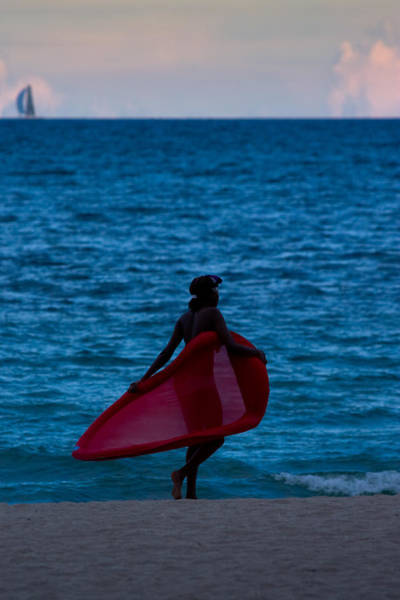 Photograph - Girl In Red Float by Ed Gleichman