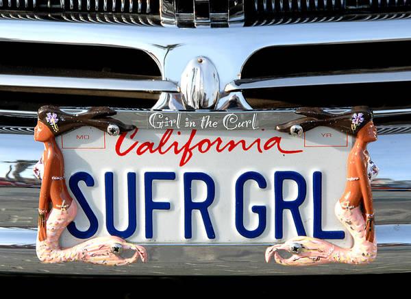 Orange County Digital Art - Girl In The Curl by Ron Regalado