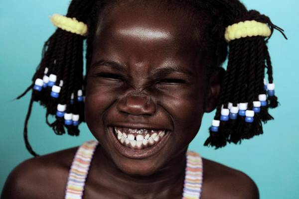 Uganda Wall Art - Photograph - Girl Laughing by Mauro Fermariello/science Photo Library
