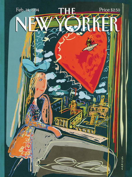 1994 Painting - New Yorker February 14th, 1994 by Javier Mariscal
