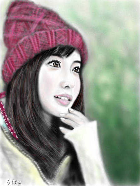 Painting - Girl No.190 by Yoshiyuki Uchida
