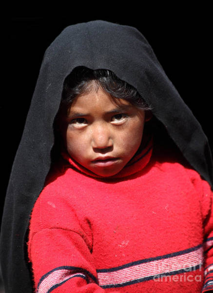 Photograph - Girl On Taquile Island by James Brunker
