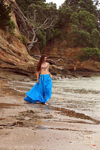 Pohutukawa Photograph - Girl On The Edge by Gee Lyon