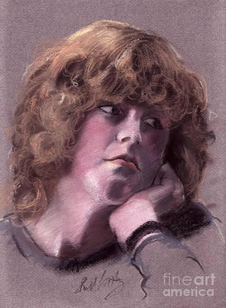 Pastel - Girl Portrait In Pastels by Russell Kightley