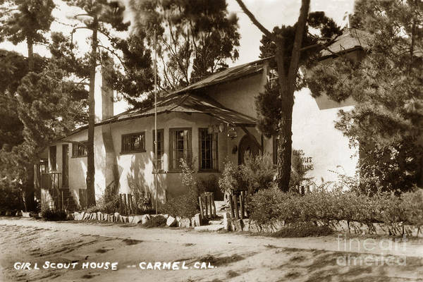 Photograph - Girl Scout House Carmel California Circa 1935 by California Views Archives Mr Pat Hathaway Archives