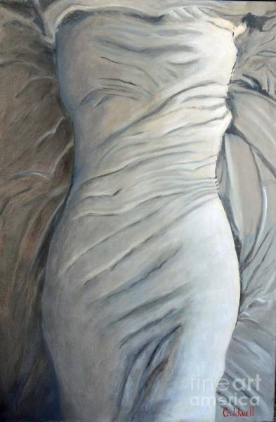 Wall Art - Painting - Girl Under The Sheet by Patricia Caldwell