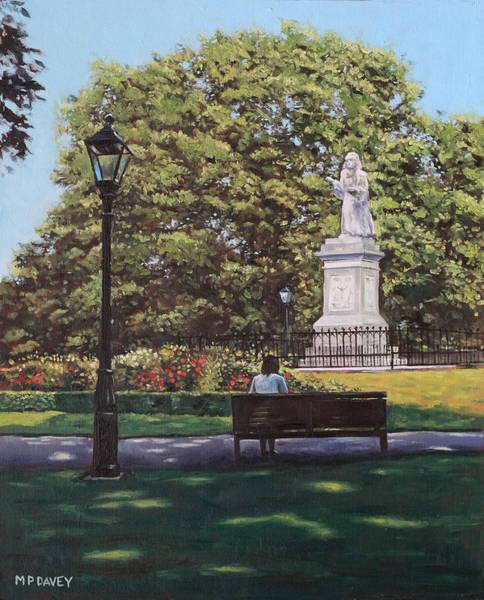 Painting - Girl Waiting At Southampton Watts Park by Martin Davey
