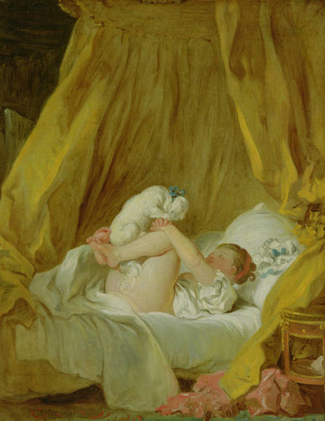 Playful Painting - Girl With A Dog by Jean Honore Fragonard