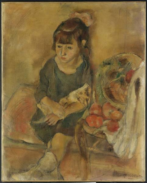 Central America Painting - Girl With A Kitten by Jules Pascin