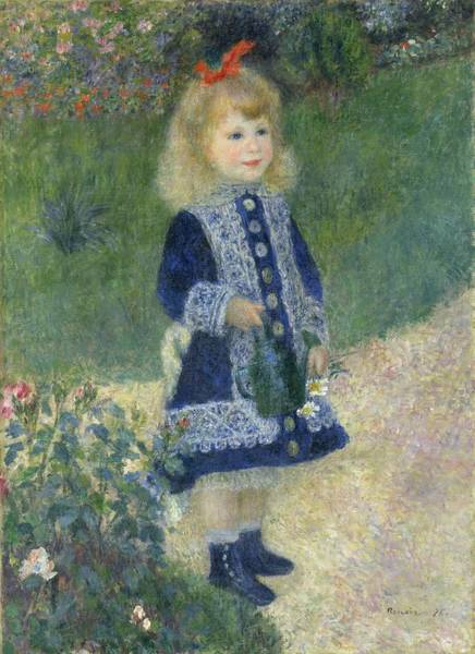 Painting - Girl With A Watering Can by Auguste Renoir