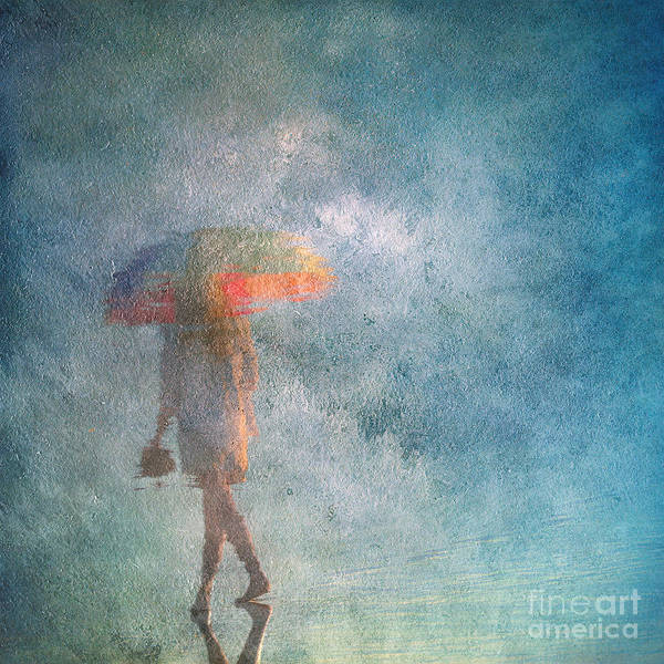 Photograph - Girl With An Umbrella 3 by Russell Brown