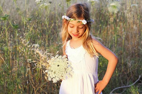 Wall Art - Photograph - Girl With Flower Wreath by Photostock-israel/science Photo Library