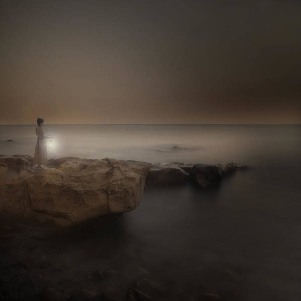 Gloomy Wall Art - Photograph - Girl With Lantern by Joana Kruse