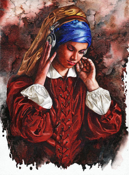 Painting - Girl With The Poor Hearing by Peter Williams