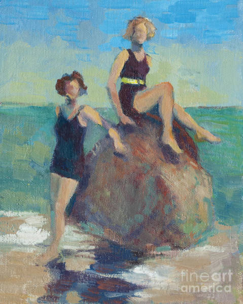 California Painting - Girlfriends At The Beach by Karla Bartholomew