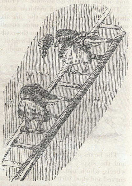Wall Art - Drawing - Girls Carrying Coal Up Ladders Mary by Mary Evans Picture Library