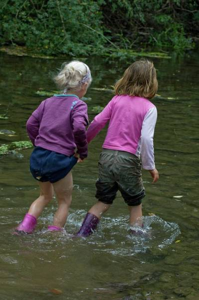 Wellington Photograph - Girls On A Nature Trail by David Woodfall Images/science Photo Library