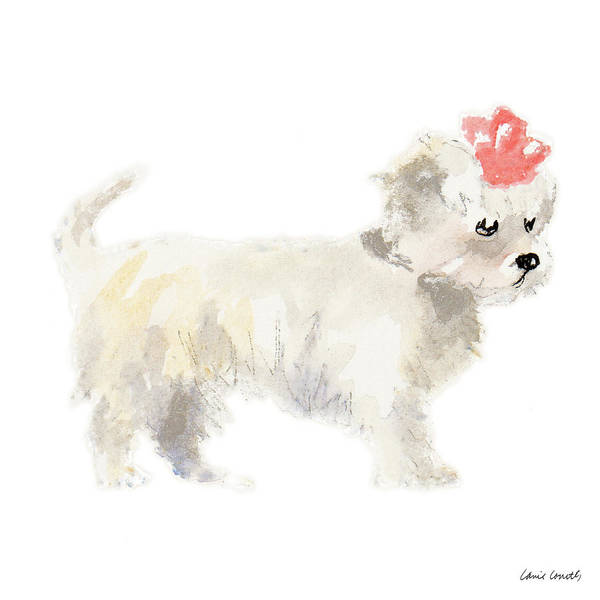 Girly Painting - Girly Puppy by Lanie Loreth