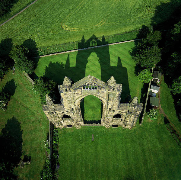 St. Mary Photograph - Gisborough Priory by Skyscan/science Photo Library