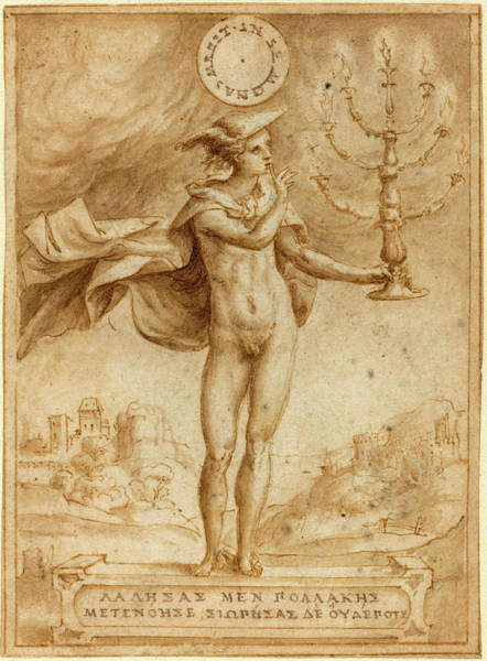 Wall Art - Drawing - Giulio Bonasone, Italian C. 1498-c by Litz Collection
