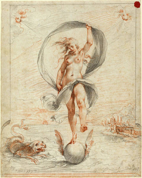 Allegorical Figure Drawing - Giuseppe Cesari, Called Cavaliere Darpino by Litz Collection