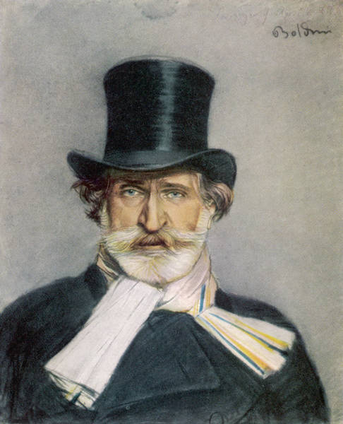 Scarf Drawing - Giuseppe Verdi  Italian Composer by Mary Evans Picture Library
