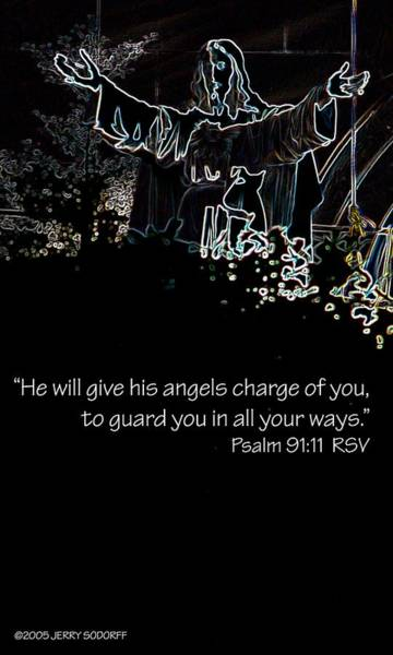 Photograph - Give His Angels 24064 by Jerry Sodorff