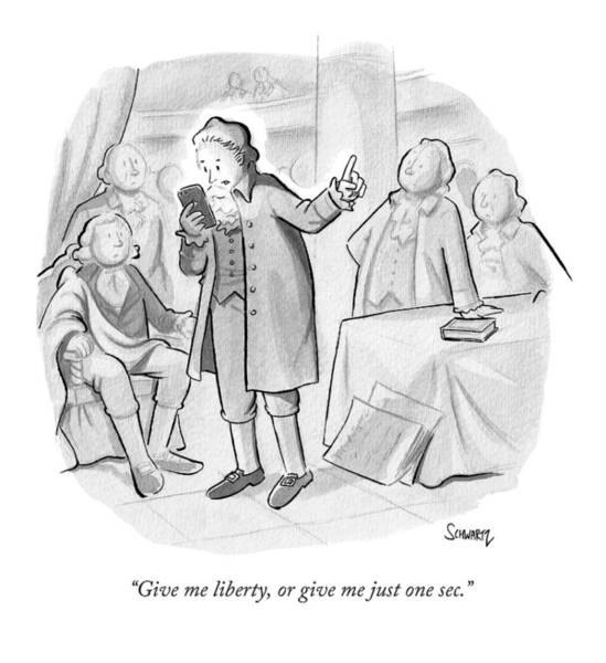 October 3rd Drawing - Give Me Liberty by Benjamin Schwartz