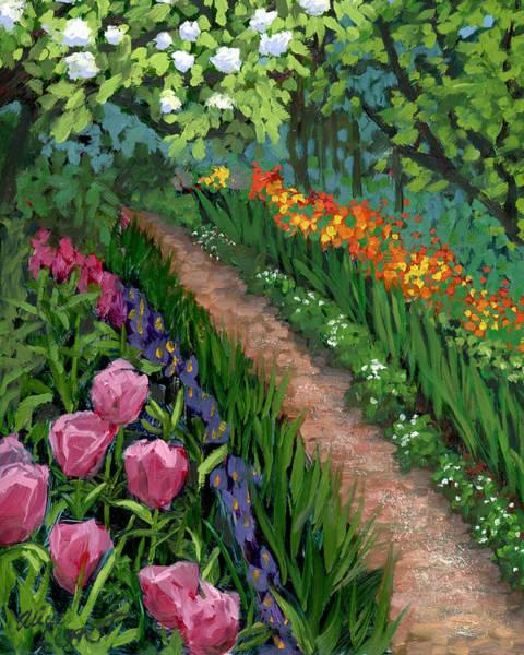 Posy Wall Art - Painting - Giverny Garden by Alice Leggett