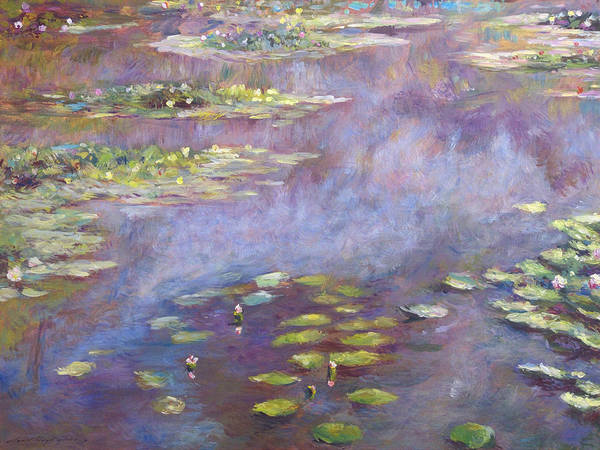 Giverny Painting - Giverny Nympheas by David Lloyd Glover