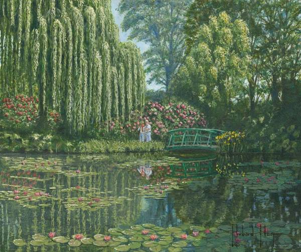 Wall Art - Painting - Giverny Reflections by Richard Harpum