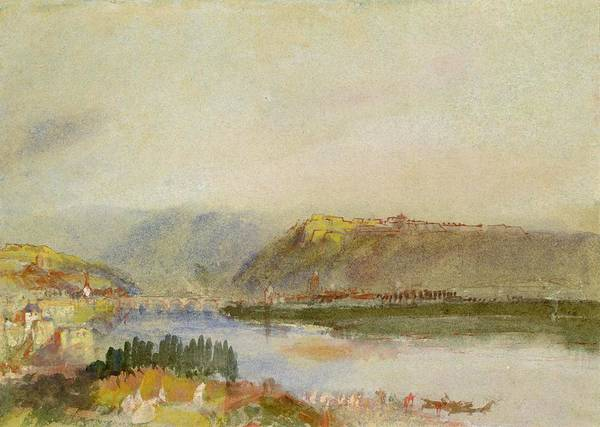 Belgian Photograph - Givet From The North, C.1839 Gouache And Wc by Joseph Mallord William Turner