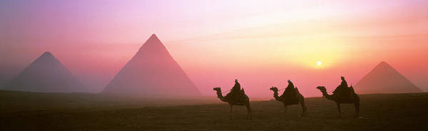 Historic Triangle Photograph - Giza Pyramids Egypt by Panoramic Images