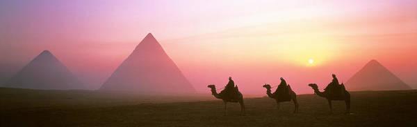 Giza Photograph - Giza Pyramids Egypt by Panoramic Images