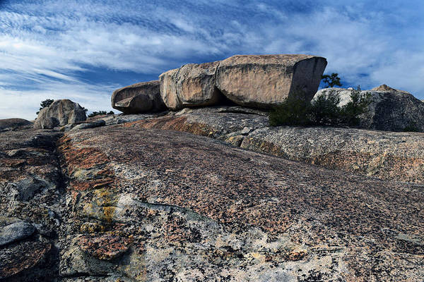 Glacial Erratic Photograph - Glacial Eratic On Bald Rock Dome by Frank Wilson