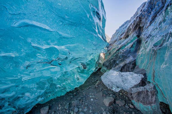 Glacial Photograph - Glacial Ice Cave, Svinafellsjokull by Panoramic Images