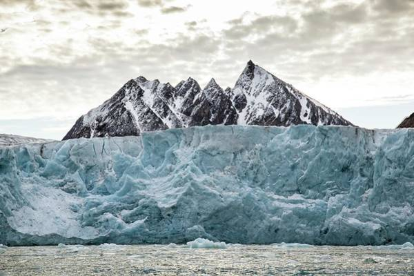Crevasses Photograph - Glacial Ice Cliff by Peter J. Raymond