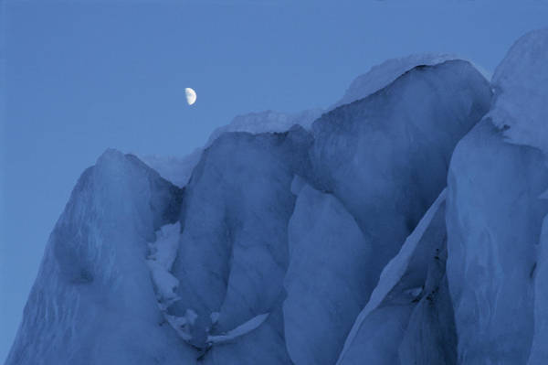 Glacial Photograph - Glacial Ice Cliff by Simon Fraser/science Photo Library