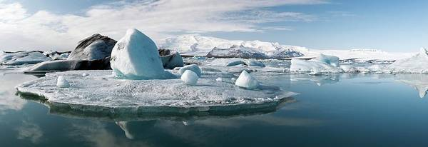 Ice Floe Photograph - Glacial Lagoon by Jeremy Walker
