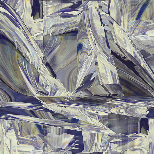 Digital Art - Glacier Ice by rd Erickson