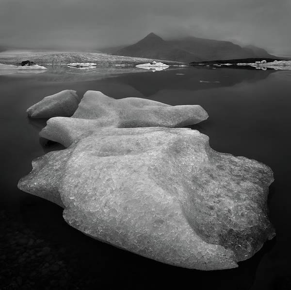 Glacier Photograph - Glacier Lake by Shenshen Dou