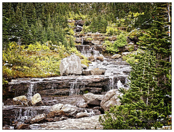 Photograph - Glacier Park Waterfall by Susan Kinney