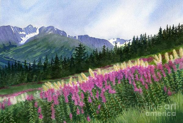 Freeman Wall Art - Painting - Glacier Valley Fireweed by Sharon Freeman
