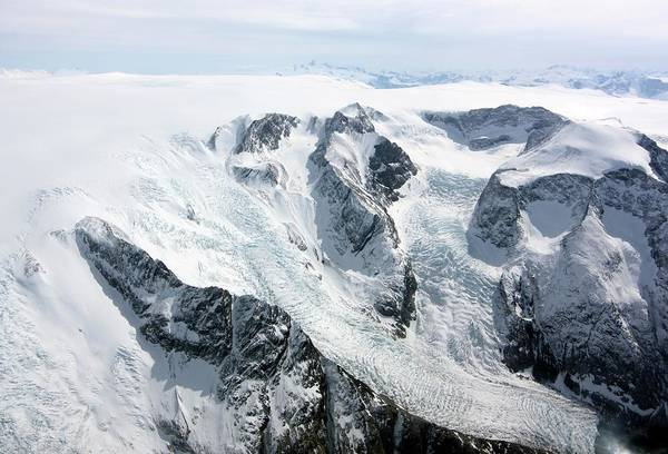 Wall Art - Photograph - Glaciers In Southwest Greenland by Maria-jose Vinas, Nasa/science Photo Library