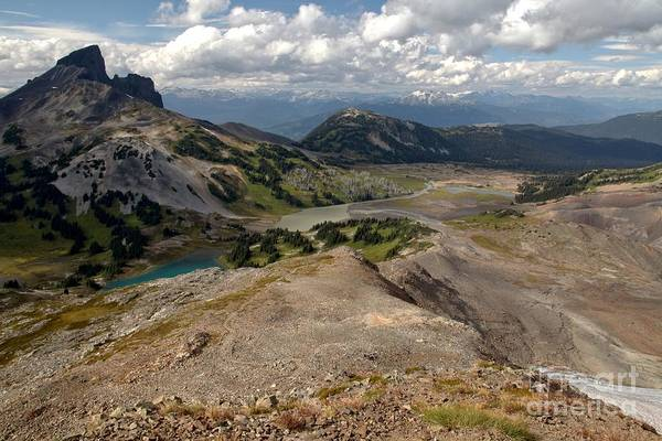 Photograph - Glaciers Mountain Lakes And Meadows At Black Tusk by Adam Jewell